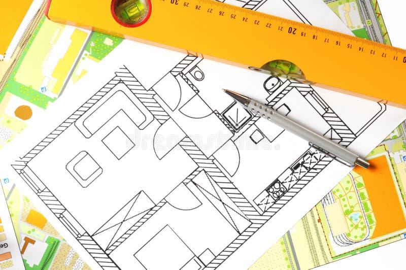 Illustrazione architettonica immagine stock