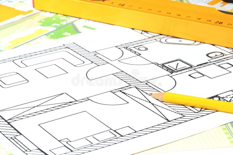 Illustrazione architettonica immagini stock