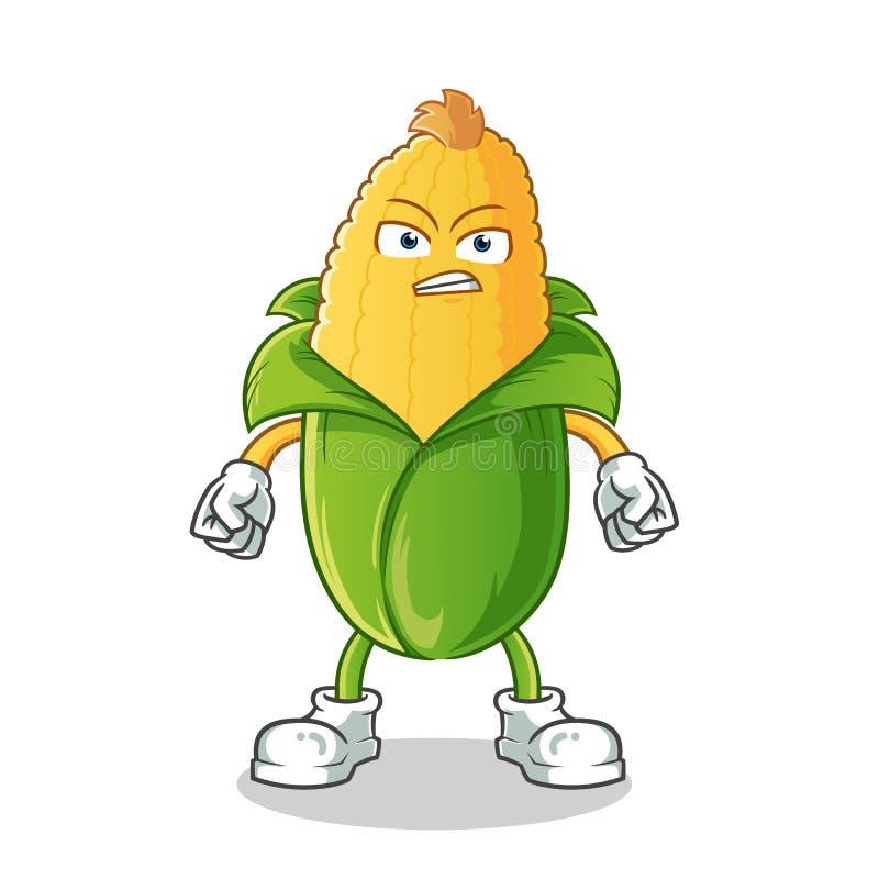 Illustrazione arrabbiata del fumetto di vettore della mascotte del cereale illustrazione vettoriale