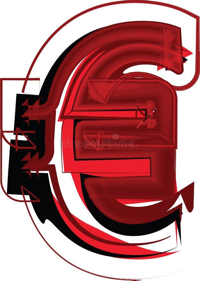 Illustrazione artistica di simbolo illustrazione di stock