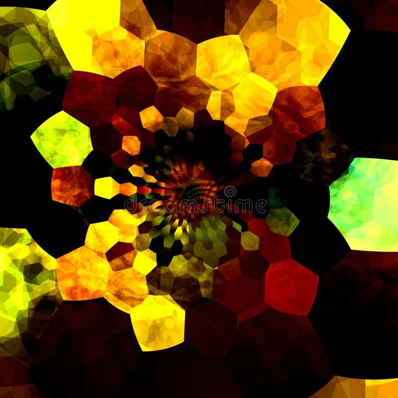 Illustrazione Artsy di progettazione del fondo La composizione in arte colora le forme molte dimensioni differenti Schermo astrat royalty illustrazione gratis