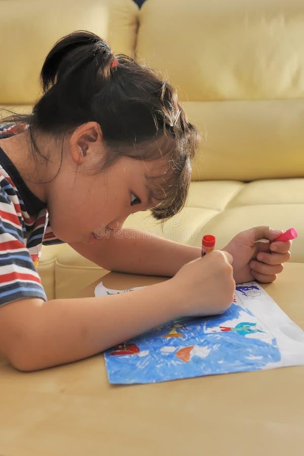 Illustrazione asiatica del bambino immagine stock libera da diritti