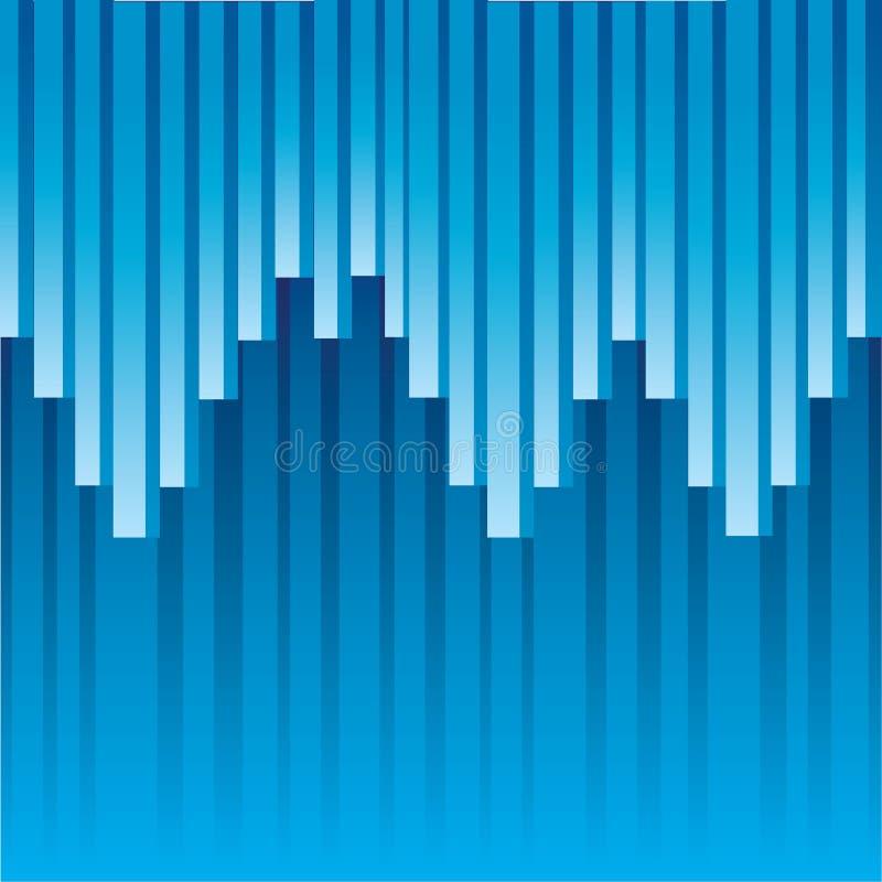 Illustrazione astratta blu di vettore del fondo illustrazione vettoriale