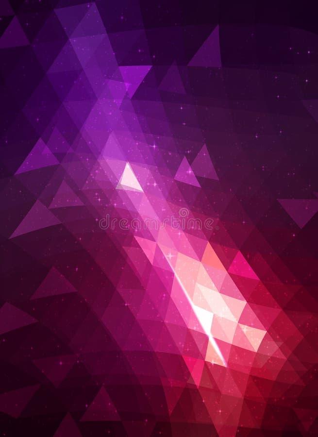 Illustrazione astratta - colore profondo - contesto con le forme geometriche moderne variopinte illustrazione di stock