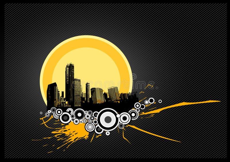 Illustrazione astratta con la città. royalty illustrazione gratis