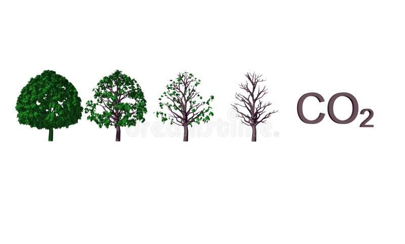 Illustrazione astratta del CO2 illustrazione di stock