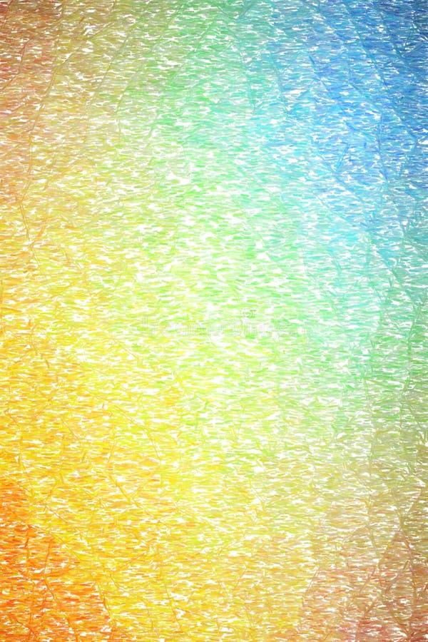 Illustrazione astratta del fondo astratto arancio verde blu verticale della matita di colore, digitalmente generata royalty illustrazione gratis