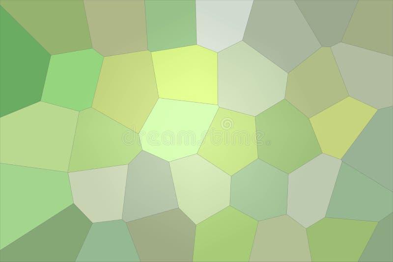 Illustrazione astratta del fondo gigante luminoso d'argento e verde di esagono, digitalmente generata illustrazione vettoriale