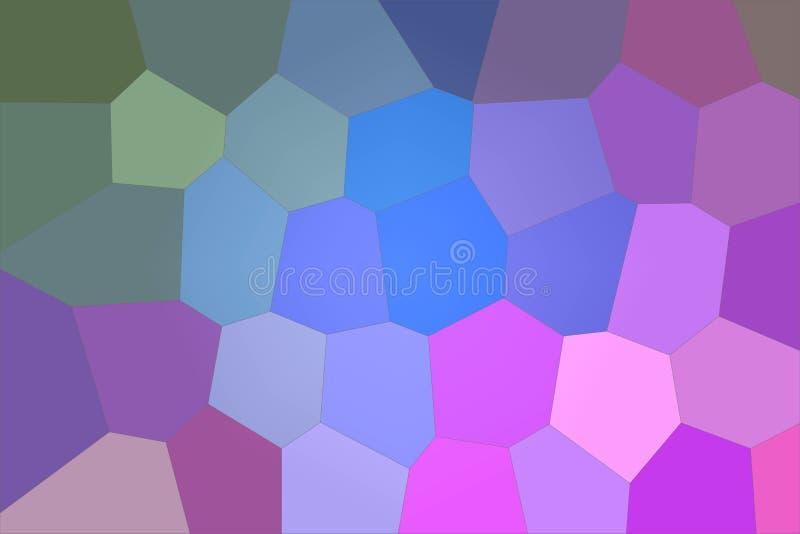 Illustrazione astratta del fondo gigante luminoso verde blu e rosa di esagono, digitalmente generata royalty illustrazione gratis