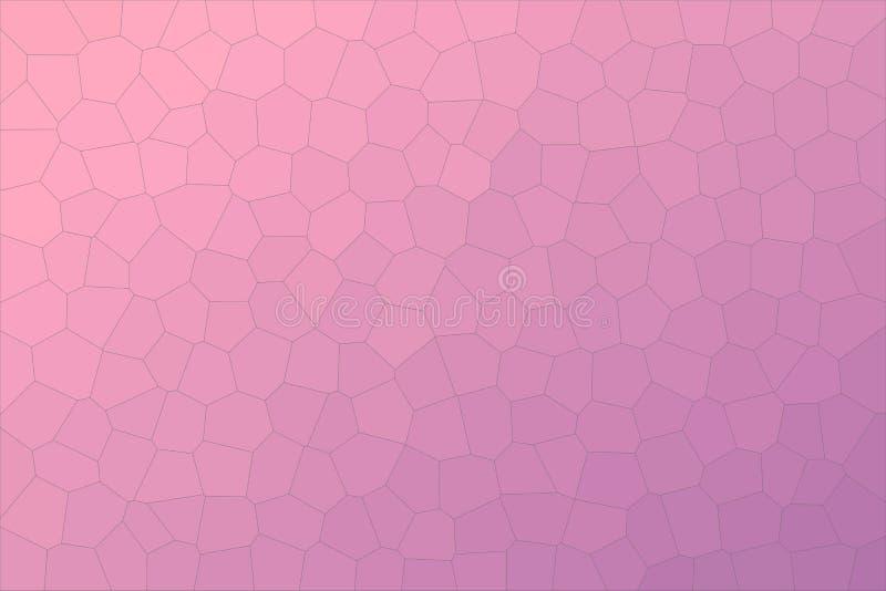 Illustrazione astratta del fondo medio madreperlaceo di esagono di dimensione di rosa del pappagallo e di porpora, digitalmente g royalty illustrazione gratis