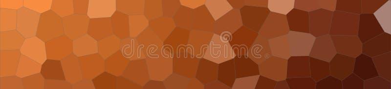 Illustrazione astratta del fondo medio variopinto marrone dell'insegna di esagono di dimensione, digitalmente generata illustrazione vettoriale
