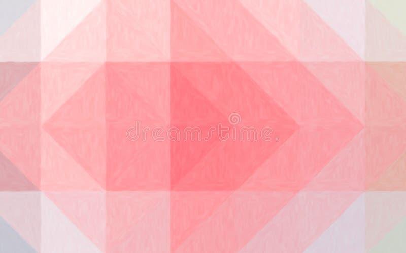 Illustrazione astratta del fondo pastello dell'olio bianco e rosso, digitalmente generata royalty illustrazione gratis