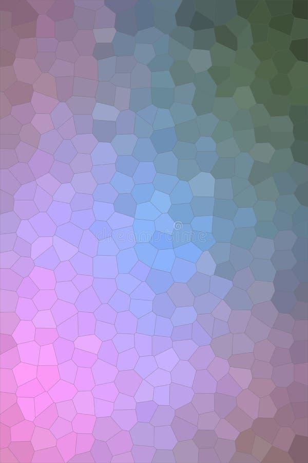 Illustrazione astratta del fondo pastello verticale di rosa e verde blu piccolo di esagono, digitalmente generata illustrazione vettoriale
