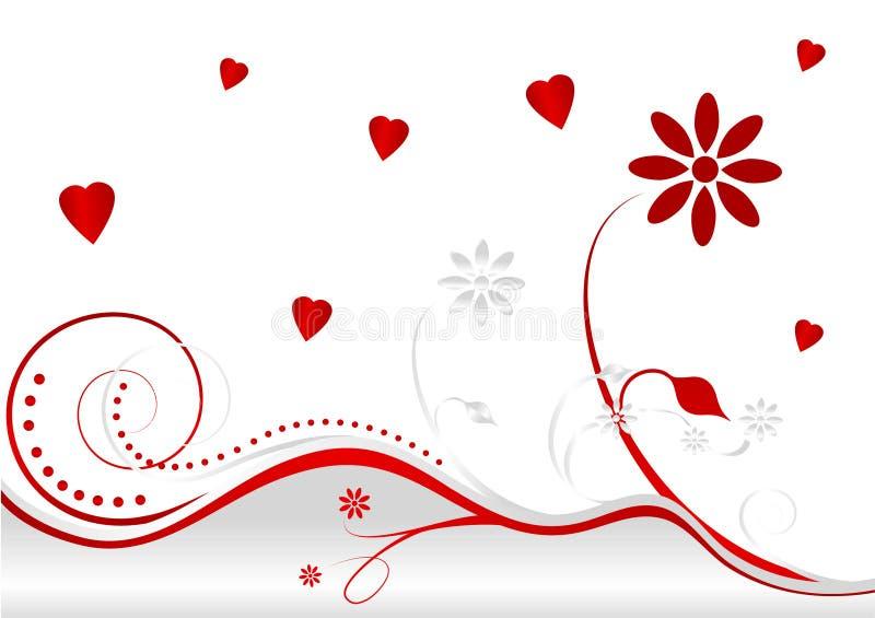Illustrazione astratta del giorno del biglietto di S. Valentino felice illustrazione di stock