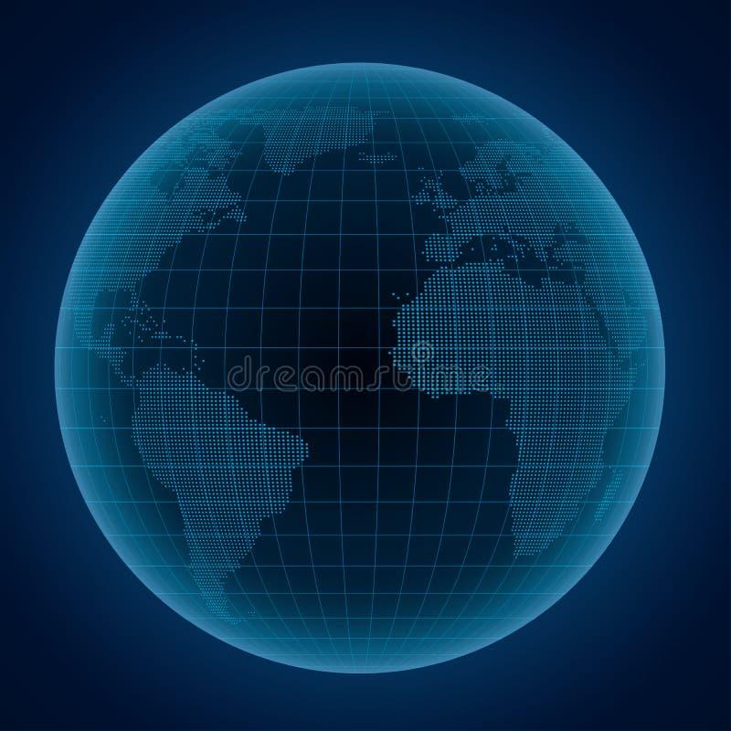 Illustrazione astratta del globo royalty illustrazione gratis