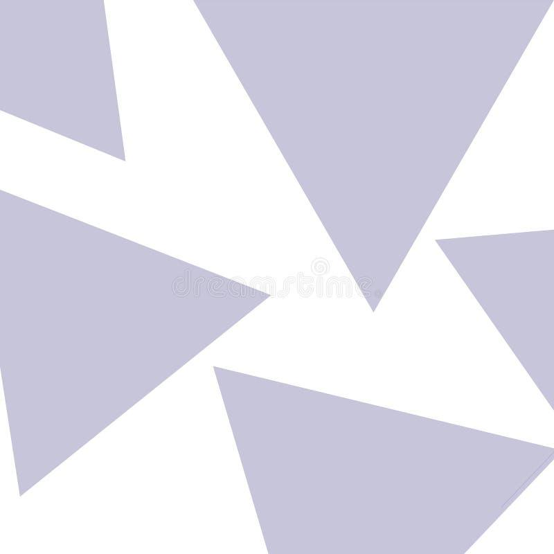 Illustrazione astratta del modello blu del triangolo in casuale su bianco Una forma geometrica di tre lati ed angoli diritti illustrazione vettoriale