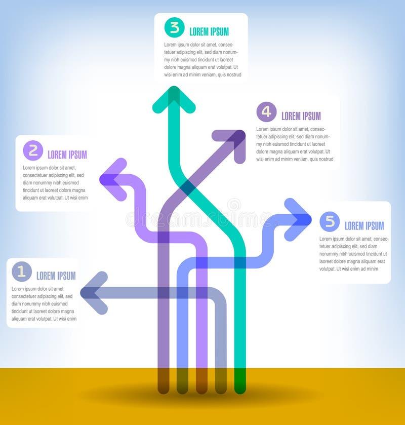 Illustrazione astratta del modello di opzioni di numero di infographics Può essere usato per la disposizione di flusso di lavoro, royalty illustrazione gratis