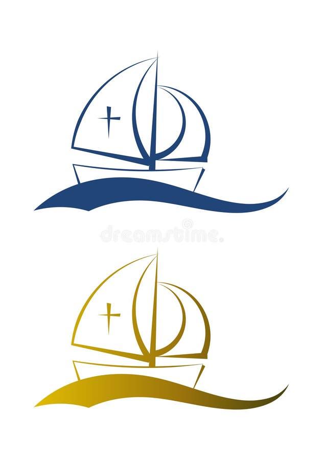 Illustrazione astratta del peschereccio illustrazione vettoriale