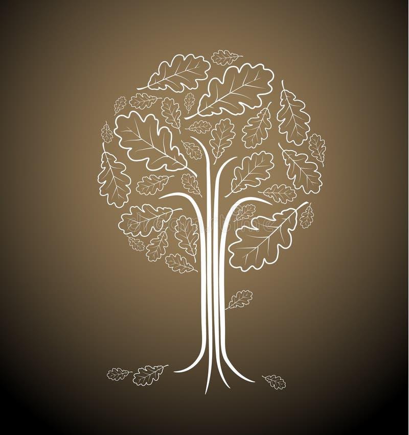 Illustrazione astratta dell'albero dell'annata royalty illustrazione gratis
