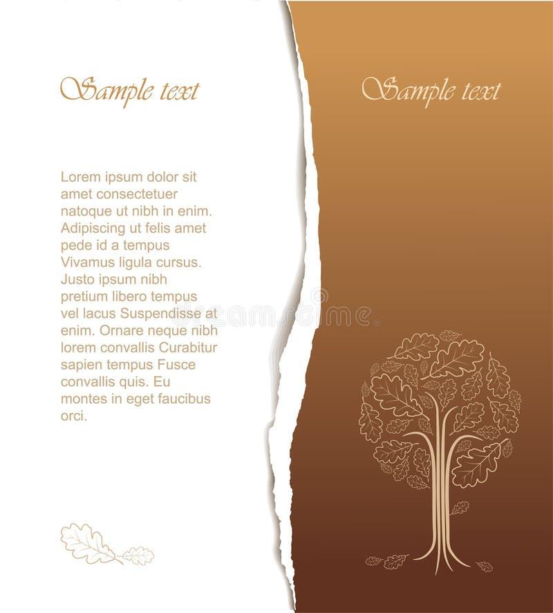Illustrazione astratta dell'albero dell'annata illustrazione di stock