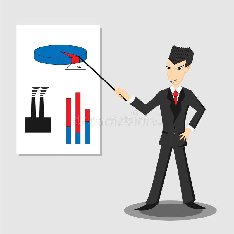 Illustrazione astratta dell'uomo d'affari royalty illustrazione gratis