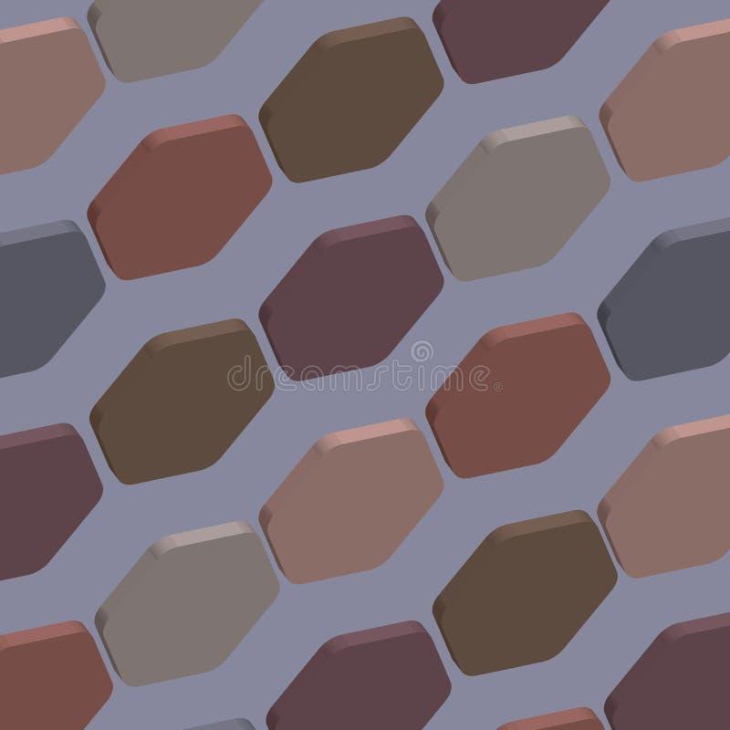 Illustrazione astratta della carta da parati di struttura del modello 3d di esagono immagini stock