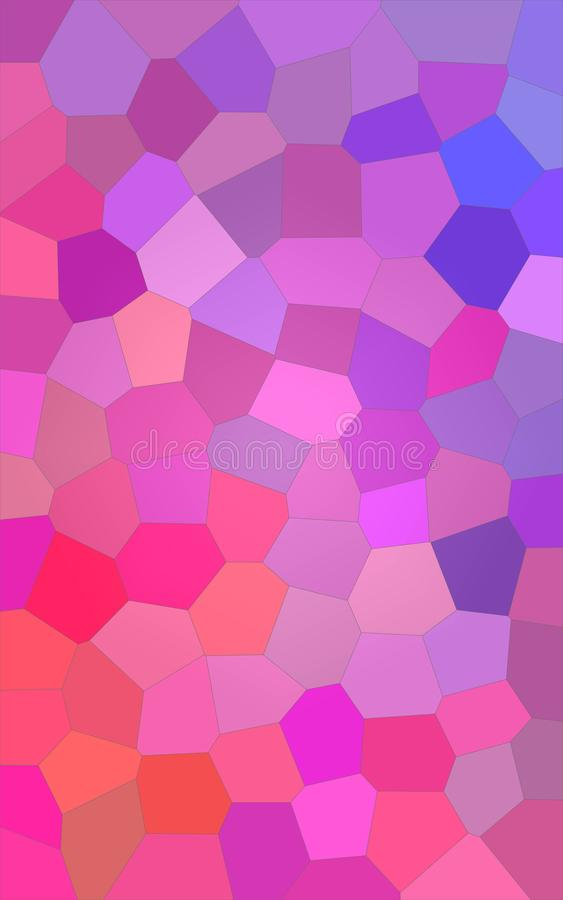 Illustrazione astratta di grande fondo luminoso porpora verticale di esagono, digitalmente generata illustrazione di stock