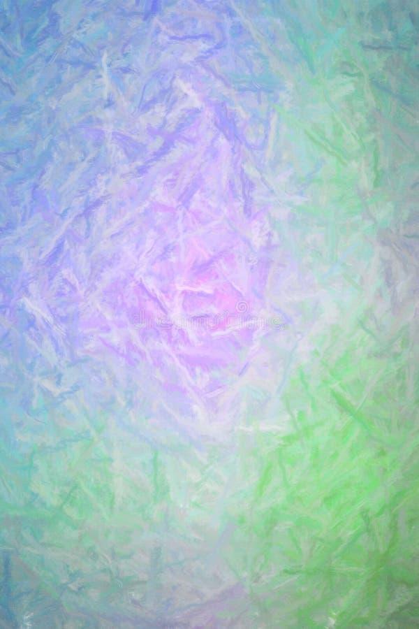 Illustrazione astratta di pastello porpora verde blu verticale con il fondo lungo dei colpi della spazzola, digitalmente generata illustrazione vettoriale