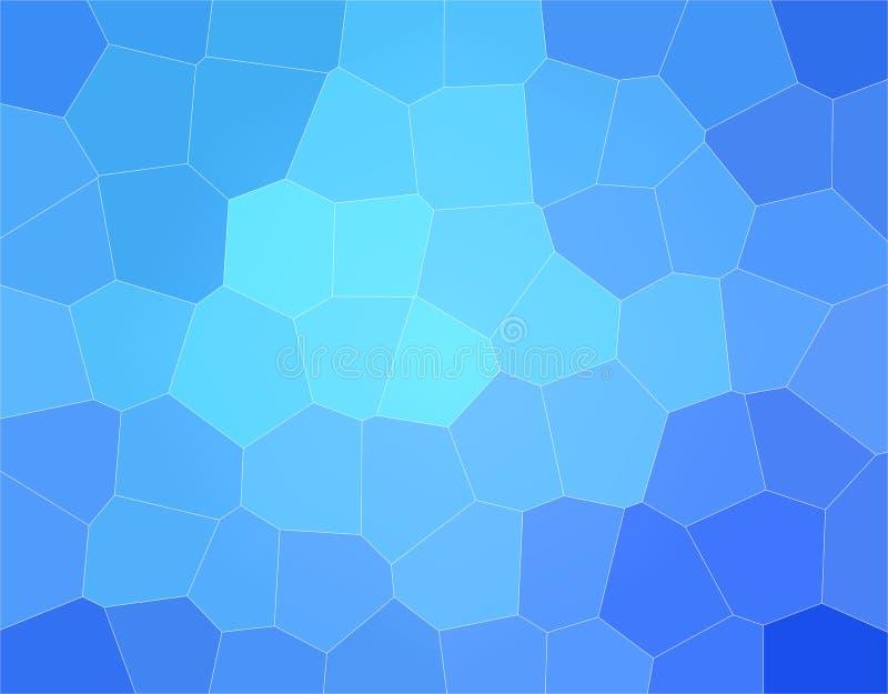 Illustrazione astratta di stordimento di grande esagono blu Fondo sbalorditivo per il vostro progetto royalty illustrazione gratis