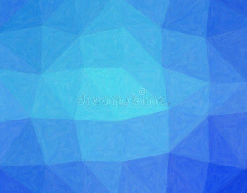 Illustrazione astratta di stordimento di Impasto blu con la pittura della spazzola molle Bello fondo per i vostri bisogni immagini stock