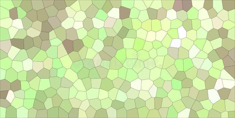 Illustrazione astratta di stordimento piccolo dell'esagono leggero verde, marrone e porpora Buon fondo per il vostro lavoro illustrazione di stock