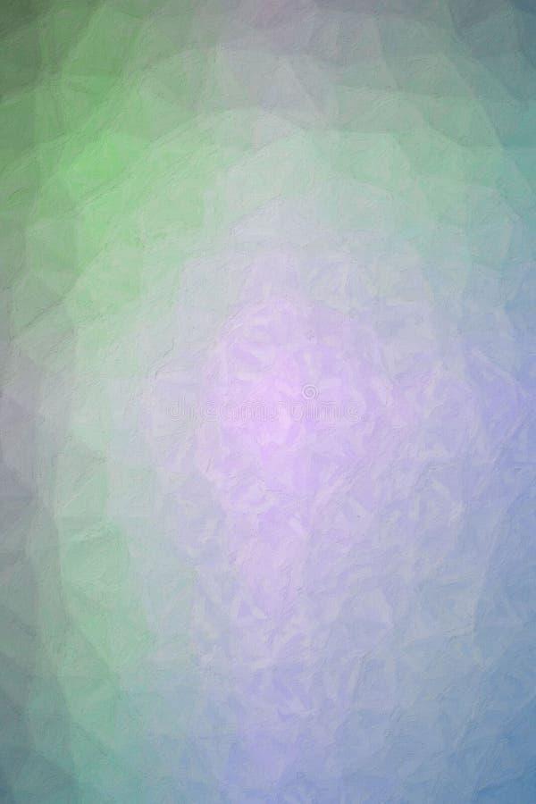 Illustrazione astratta di verde blu verticale Impasto porpora con il fondo della spazzola molle, digitalmente generata illustrazione vettoriale