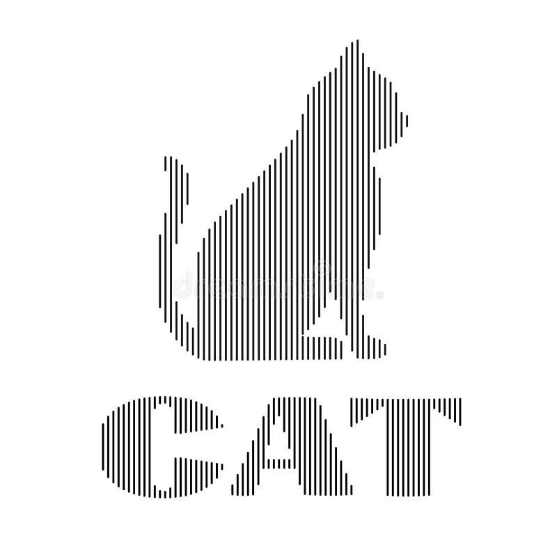 Illustrazione astratta di vettore di Cat Digital Line Art Effect pianamente royalty illustrazione gratis