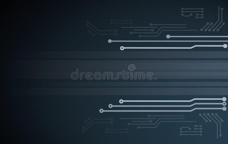 Illustrazione astratta di vettore del fondo del circuito di tecnologia illustrazione di stock