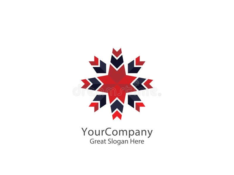Illustrazione astratta di vettore del modello dell'icona di logo del fiore della stella royalty illustrazione gratis