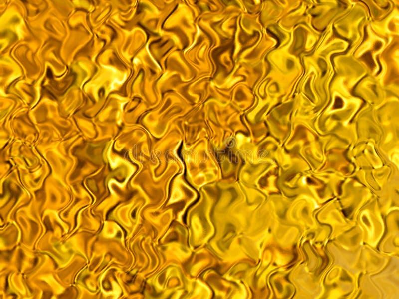 Illustrazione astratta dorata del fondo di riflessioni iridescenti ambrate illustrazione vettoriale