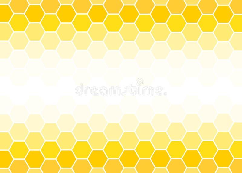 Illustrazione astratta geometrica di progettazione di vettore del fondo di esagono giallo e bianco illustrazione vettoriale