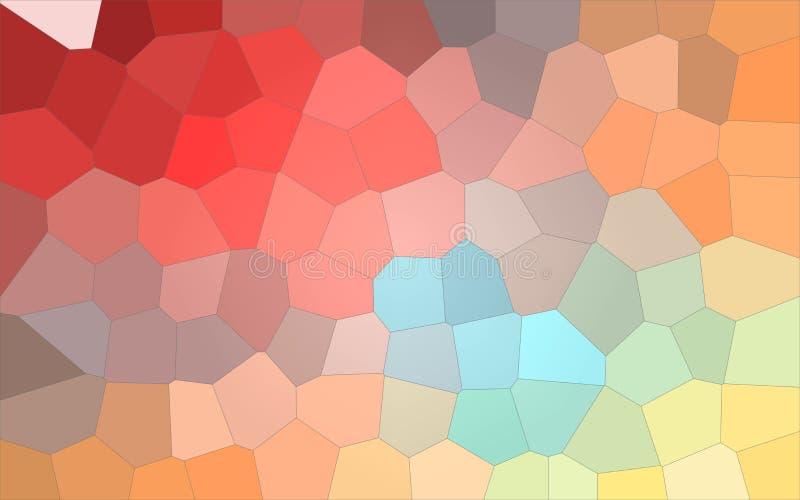 Illustrazione astratta grande del fondo variopinto rosso e giallo blu di esagono, digitalmente generata royalty illustrazione gratis