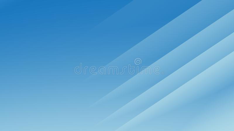 Illustrazione astratta moderna blu calma del fondo di frattale con le linee diagonali parallele illustrazione di stock