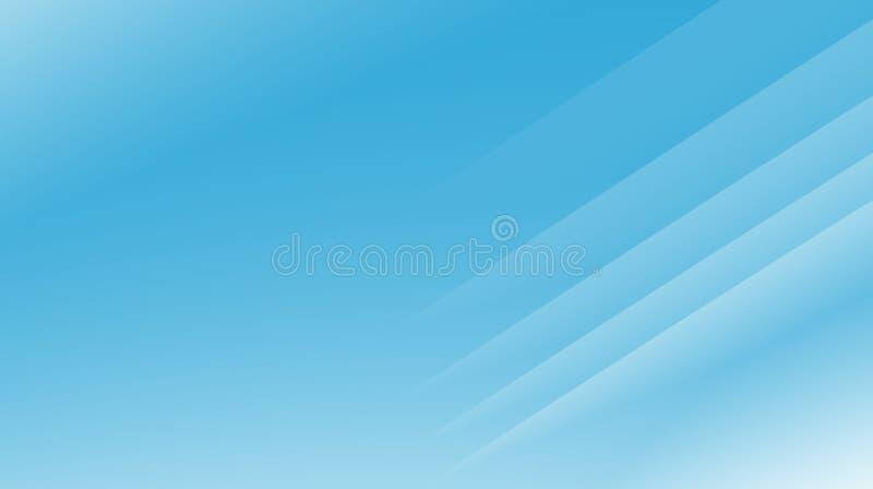 Illustrazione astratta moderna blu-chiaro del fondo di frattale con le linee diagonali parallele Spazio del testo Stile professio royalty illustrazione gratis