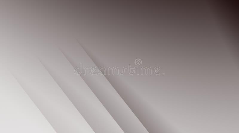 Illustrazione astratta moderna grigia semplice del fondo di frattale con le linee diagonali parallele illustrazione di stock