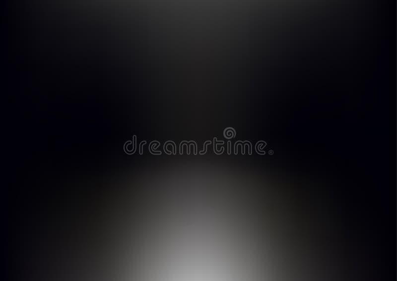 Illustrazione astratta nera blu di vettore del fondo di pendenza royalty illustrazione gratis
