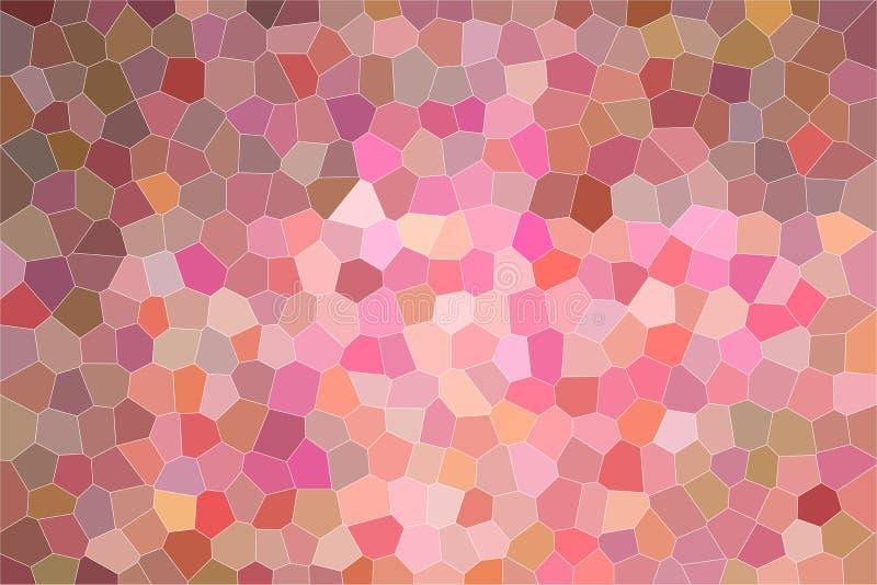 Illustrazione astratta piacevole di ebano e di piccolo esagono rosa con la pittura luminosa di colori Fondo sbalorditivo per il v royalty illustrazione gratis