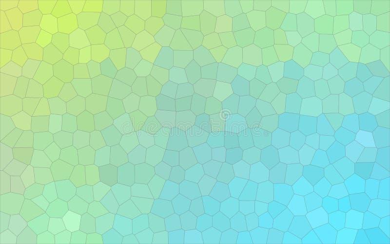 Illustrazione astratta piacevole piccolo dell'esagono pastello giallo e verde blu Fondo sbalorditivo per il vostro lavoro royalty illustrazione gratis