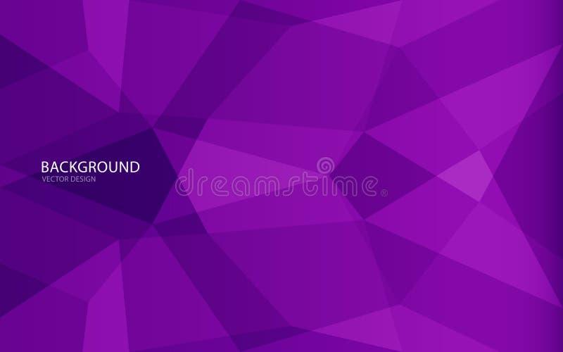 Illustrazione astratta porpora di vettore del fondo parete Bandiera di Web copertura scheda Struttura wallpaper Aletta di filatoi illustrazione di stock