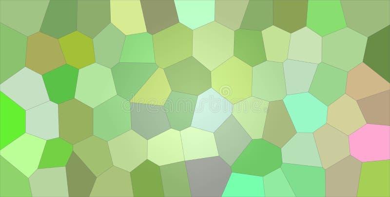 Illustrazione astratta utile grande dell'esagono luminoso verde e porpora Fondo sbalorditivo per le vostre stampe illustrazione di stock