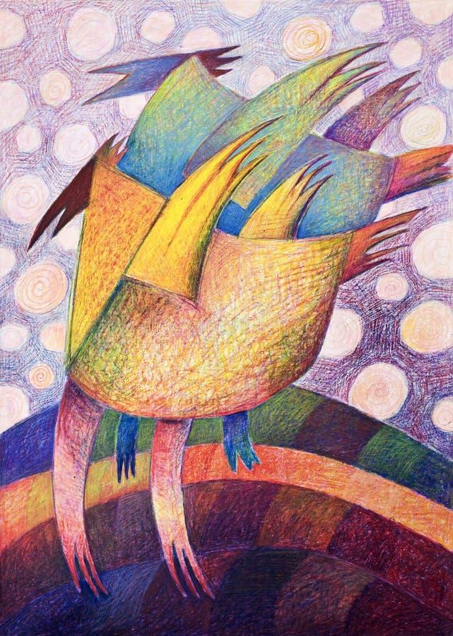 Illustrazione astratta variopinta della mano. fotografia stock