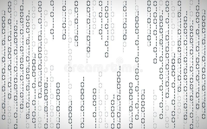 Illustrazione astratta Vettore che scorre il fondo di codice binario royalty illustrazione gratis