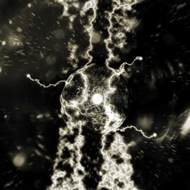Illustrazione atomica della particella 3D royalty illustrazione gratis