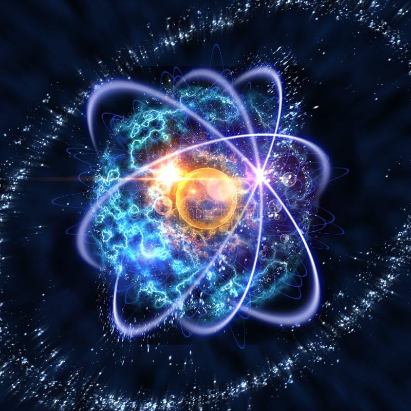 Illustrazione atomica della particella 3D illustrazione vettoriale